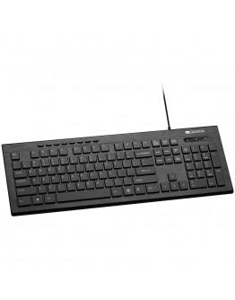 Multimedia wired keyboard, 105 keys, slim and