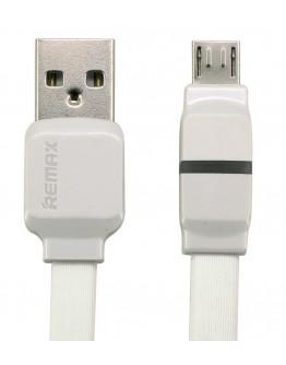 Кабел за данни micro USB, Remax,1м, Бял - 14347