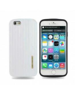 Протектор DeTech за iPhone 6/6S, Пластмаса, Бял - 51197