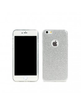 Протектор за iPhone 6/6S Plus, Remax Glitter, TPU, Slim, Сребрист - 51430