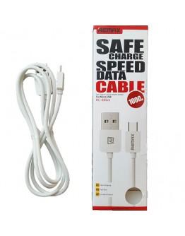 Кабел за данни micro USB, Remax, 1м, Бял - 14358
