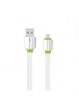 Кабел за данни, EMY MY-443, Micro USB, 1.0м, Бял - 14453