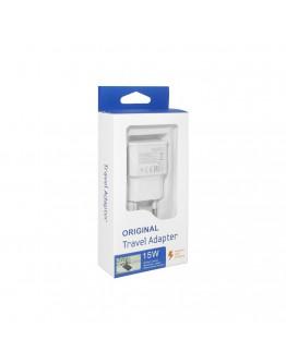 Мрежово зарядно устройство, No brand, Adaptive Fast Charging, 1 x USB, С Micro USB кабел, Бял - 14864