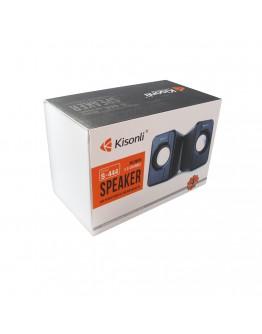 Тонколони Kisonli S-444, 2x3W, USB, Черен - 22060