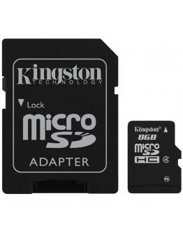 Kingston 8GB microSDHC Class 4 Flash Card + SD