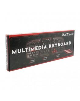 Мултимедийна клавиатура DeTech DE6086, USB, Черен - 6086