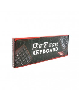 Клавиатура DeTech DE6084, USB, Черен - 6084