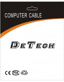 Кабел SATA  DeTech, 30см, Жълт - 18152