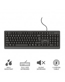 TRUST Primo Keyboard BG layout